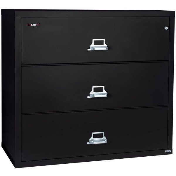 Fireproof 3-Drawer Lateral File Cabinet by FireKing