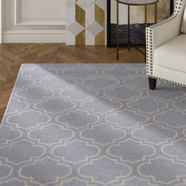 Shandi Hand-Tufted Lavender Area Rug by Mercer41