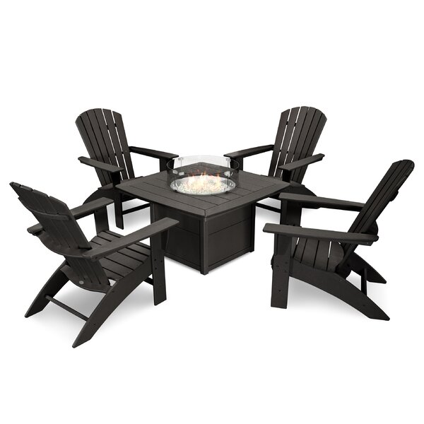 Nautical Curveback Adirondack 5 Piece Multiple Chairs Seating Group by POLYWOOD®