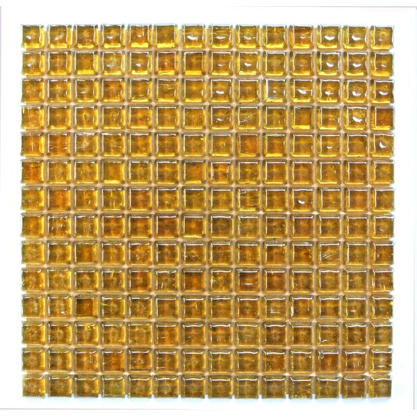 Ecologic 0.38 x 0.38 Glass Mosaic Tile in Orange by Abolos