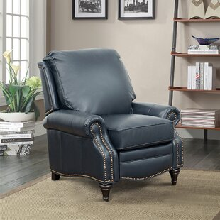 Discount Midbury Leather Manual Recliner Darby Home Co