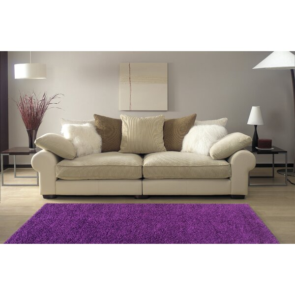 Armina Shag Purple Area Rug by Ebern Designs