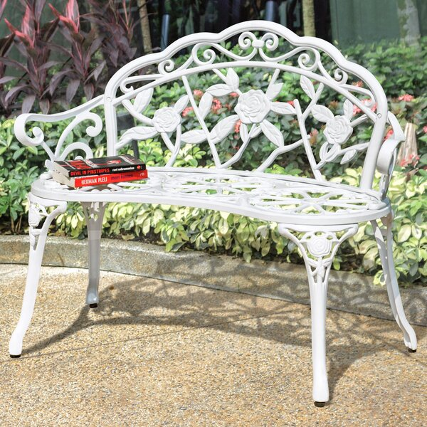 Alderson Vintage Rose Metal Garden Bench by One Allium Way