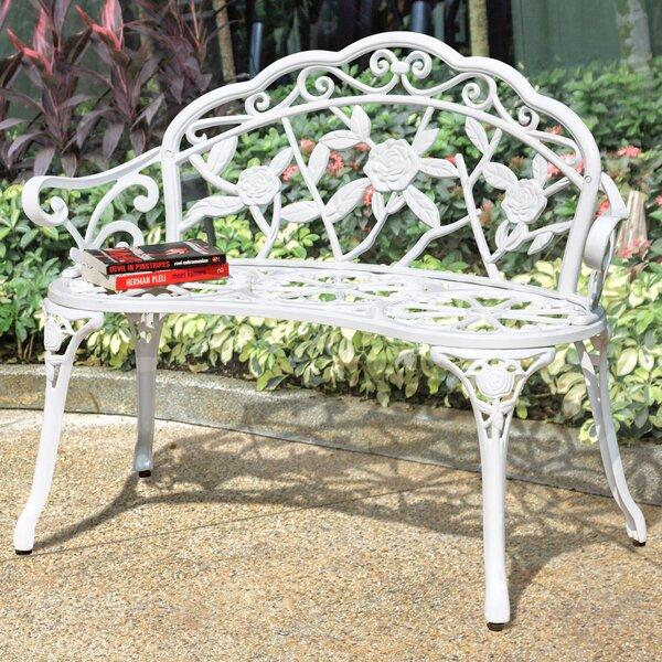 Alderson Vintage Rose Metal Garden Bench by One Allium Way