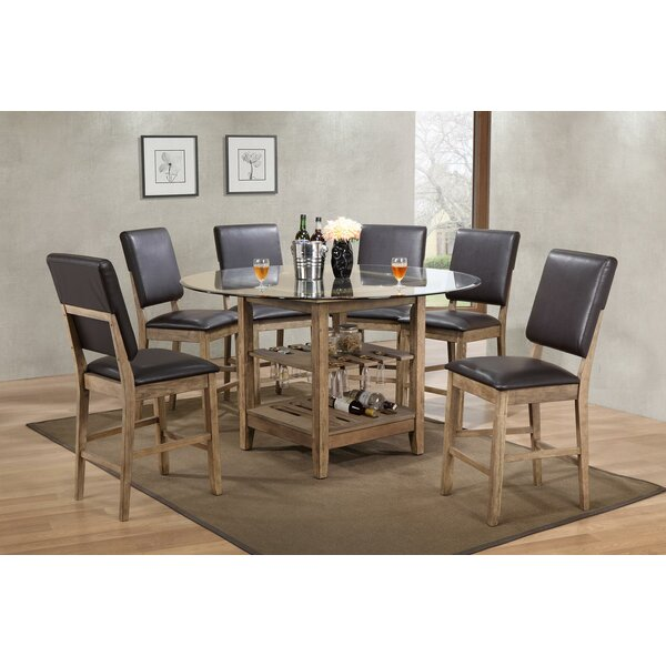 Deonte 7 Piece Pub Table Set by Millwood Pines