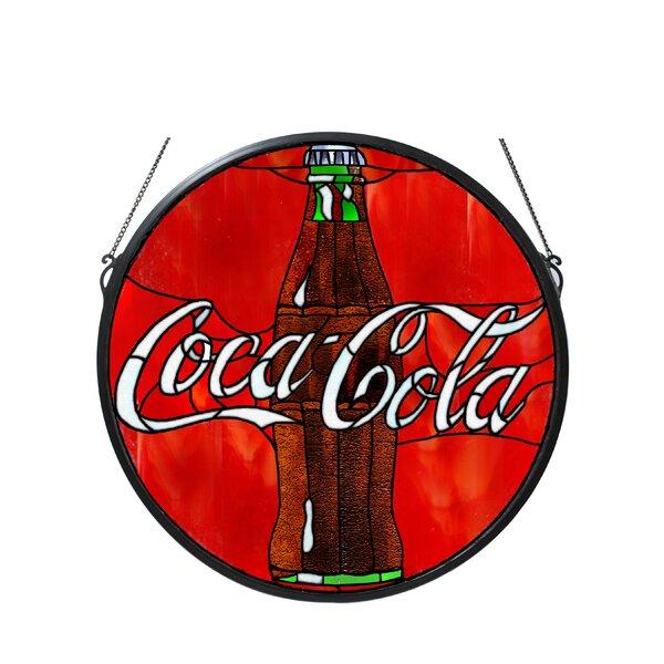 Tiffany Coca-Cola Button Medallion Stained Glass Window by Meyda Tiffany