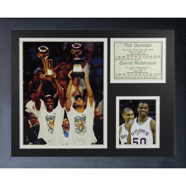 Tim Duncan & David Robinson Framed Memorabilia by Legends Never Die