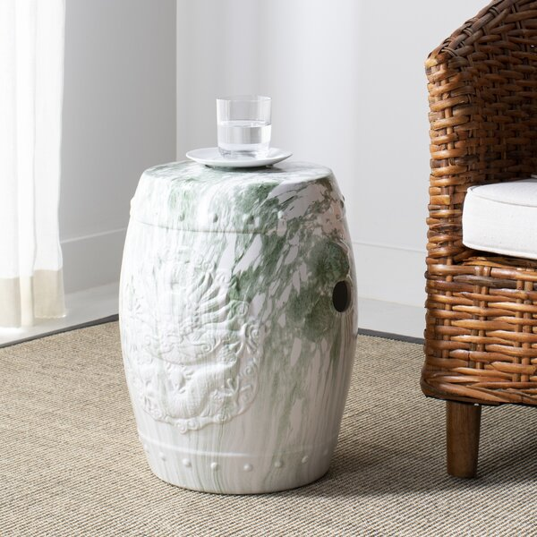 Hermilda Marble Garden Stool by Mercer41
