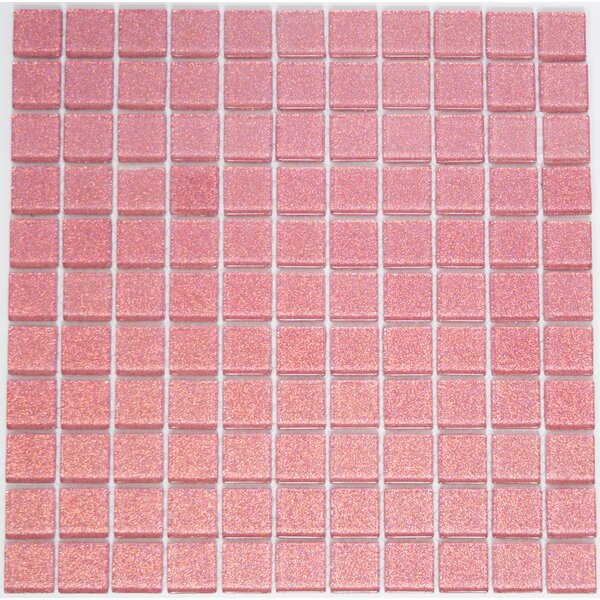 1 x 1 Glass Mosaic Tile in Pink by Susan Jablon