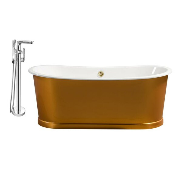 Cast Iron 67 x 30 Freestanding Soaking Bathtub by Streamline Bath