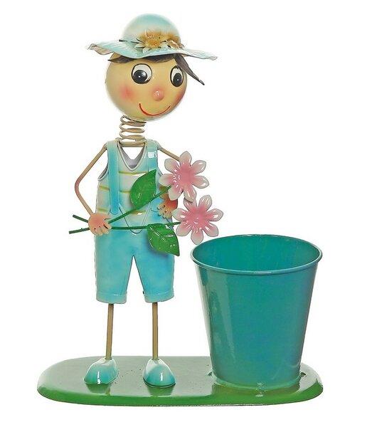 Tin Pot Planter by Northlight Seasonal