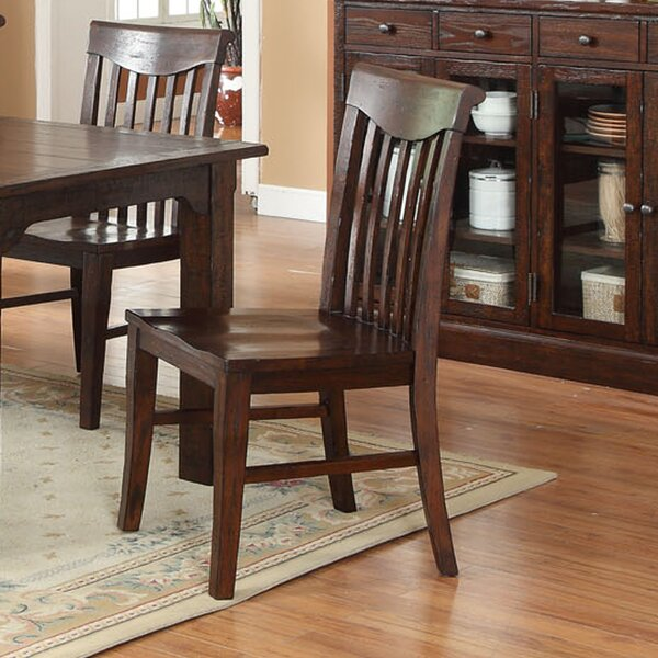 Tremper Slat Solid Wood Dining Chair (Set of 2) by Millwood Pines