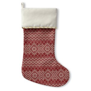 Snowflake Holiday Stocking
