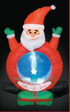 Inflatable Santa with Snow Christmas Decoration by LB International