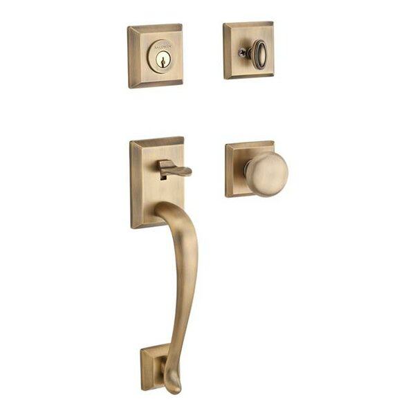Napa Single Cylinder Handleset with Round Door Kno