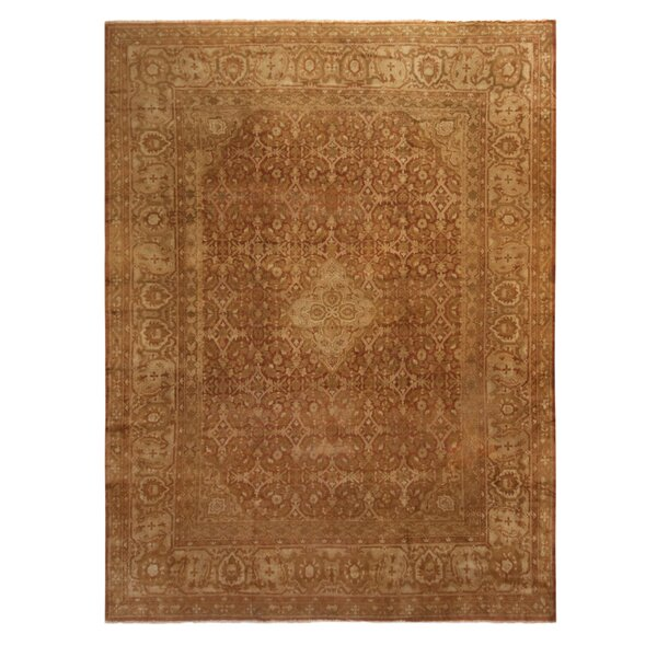 One-of-a-Kind Hand-Knotted 1940s Beige 10'1 x 12'8 Wool Area Rug