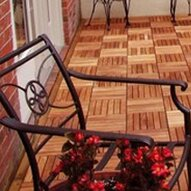 Eucalyptus 12 x 12 Interlocking Deck Tile by Vifah