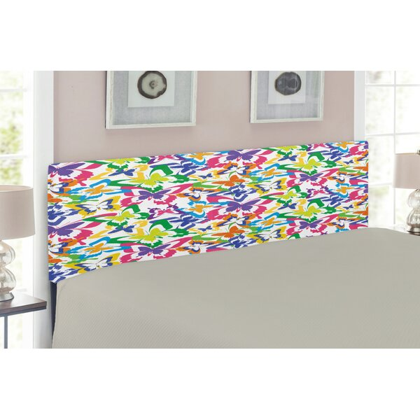 Butterfly Silhouettes Upholstered Panel Headboard by East Urban Home