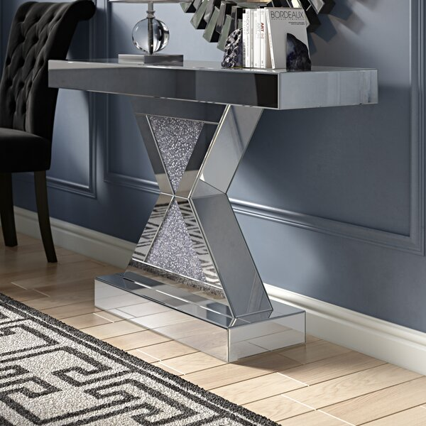 Abelardo Mirrored Console Table by Rosdorf Park