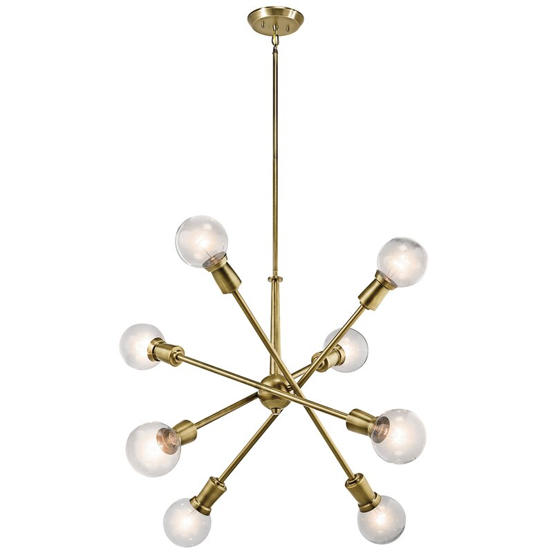 Modena 8-Light Sputnik Chandelier