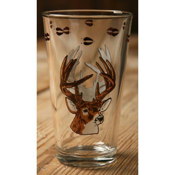 Brooks with Deer 20 oz. Water/Juice Glass (Set of 4) by Loon Peak