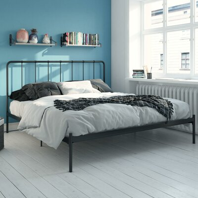 Mystic Platform Bed Hashtag Home Color: Black, Size: King