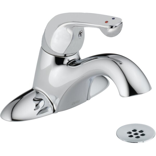 Centerset Lavatory Faucet with Grid Strainer by Delta