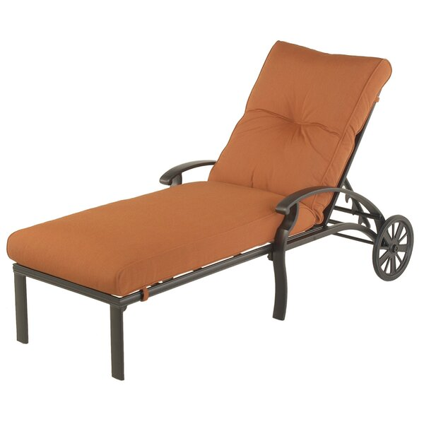 Borman Reclining Chaise Lounge With Cushion By Darby Home Co