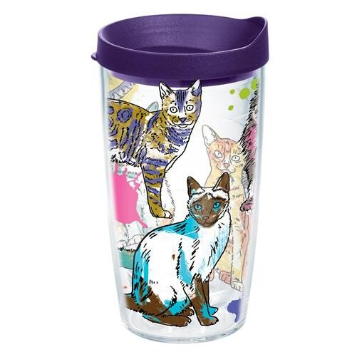 Pets Picture Purrfect Plastic Travel Tumbler by Tervis Tumbler