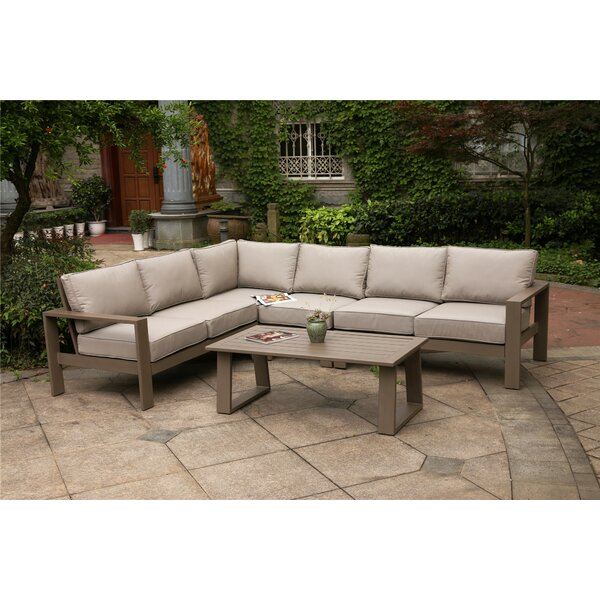 Daly 5 Piece Sectional Set with Cushions by Modern Rustic Interiors
