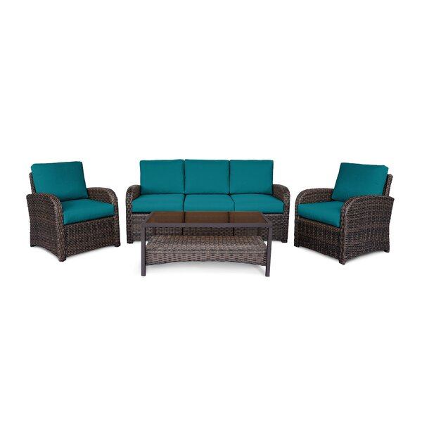 Keyser 6-Piece Sofa Seating Group with Cushions by Bayou Breeze