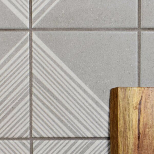 Heather 5.88 x 5.88 Porcelain Field Tile in Gray/W