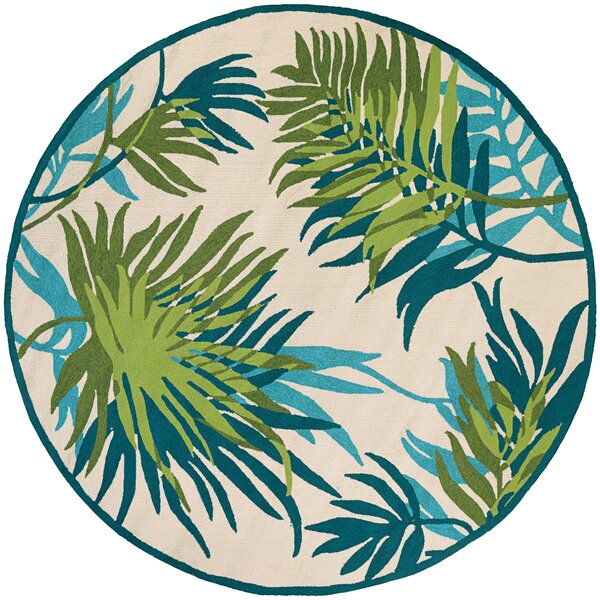 Mariann Hand-Woven Azure Indoor/Outdoor Area Rug by Beachcrest Home