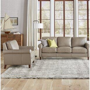 Allensworth Leather Living Room Set by Red Barrel Studio®