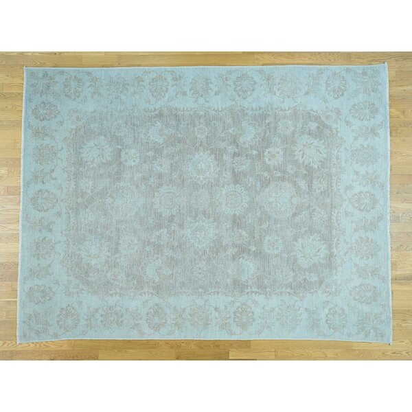 Isabelline One Of A Kind Beaumont Hand Knotted 7 10 Quot X 10 5 Quot Wool Grey Blue Area Rug Wayfair Ca