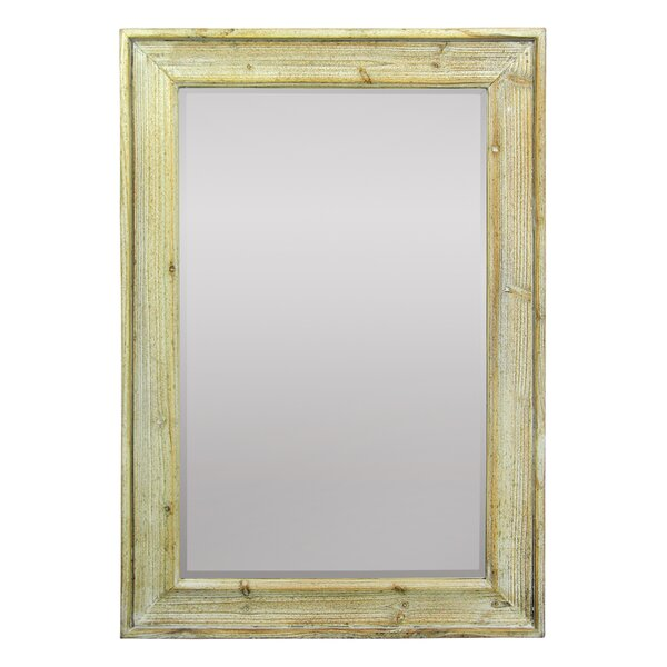 Swayne Rectangular Wooden Frame Accent Mirror by Millwood Pines