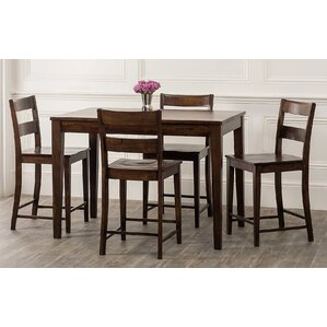 Panasonic 5 Piece Counter Height Dining Set by Bloomsbury Market