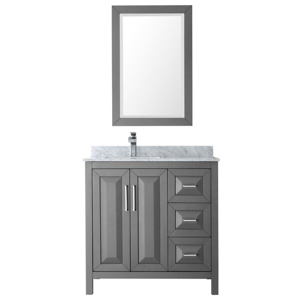 Daria 36 Single Bathroom Vanity Set with Mirror by Wyndham CollectionDaria 36 Single Bathroom Vanity Set with Mirror by Wyndham Collection