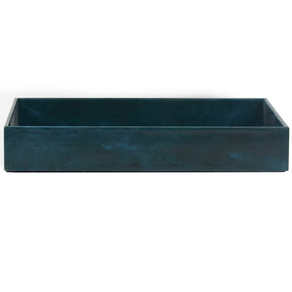 Colleen Genuine Leather Rectangle Storage Bathroom Accessory Tray by Brayden Studio