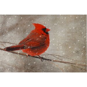 'Cardinal in Winter' Giclee Print by Red Barrel Studio