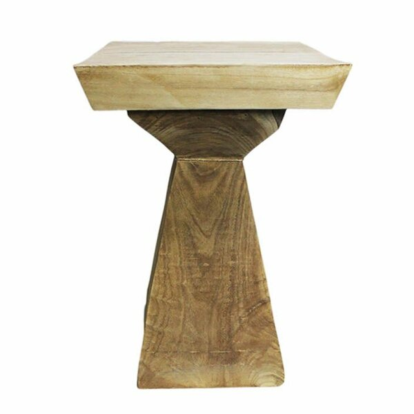 Lovelle Small Wood Side Table by Union Rustic