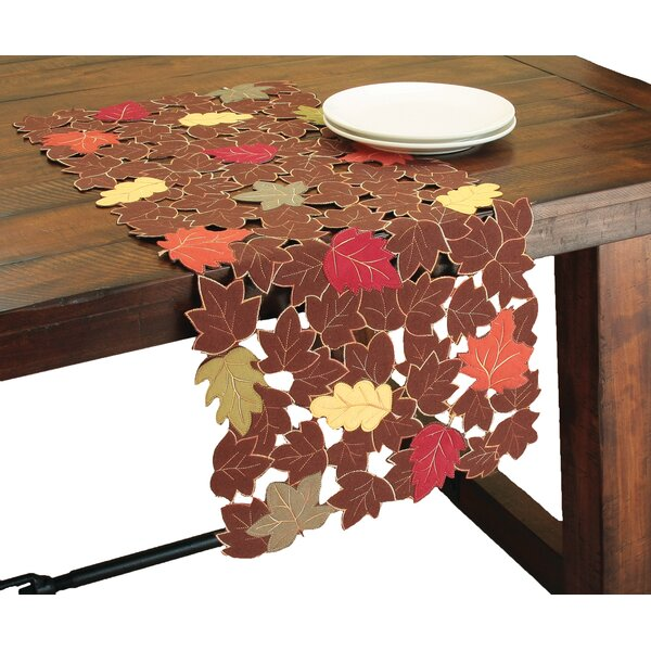 Forest Blanket with Poly-Suede Cutwork Table Runner by Xia Home Fashions