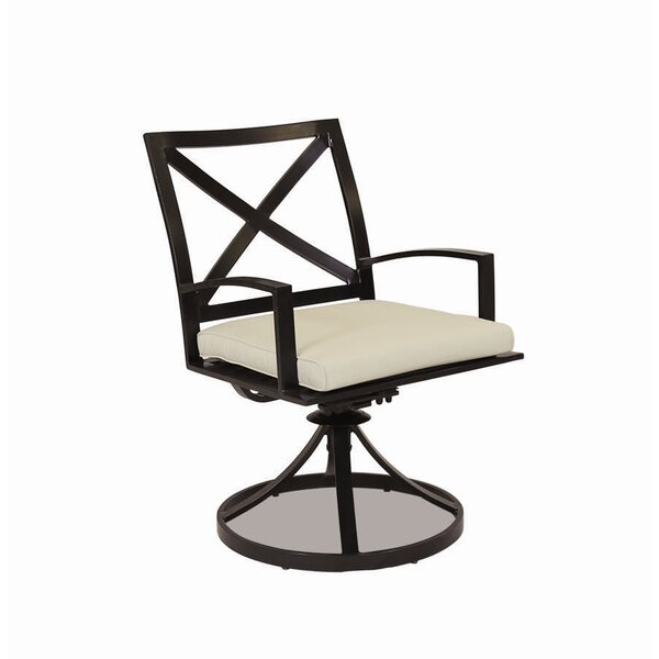 La Jolla Swivel Patio Dining Chair with Cushion by Sunset West