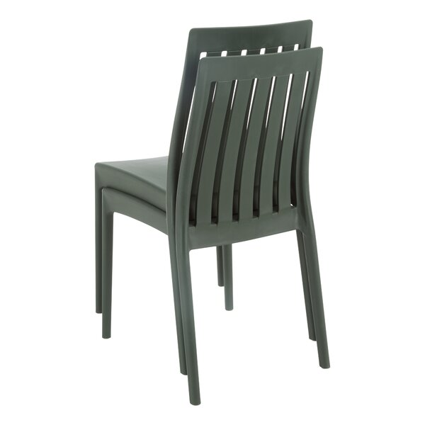 Barbra Heavy-Duty Plastic Stacking Patio Dining Chair (Set of 2) by Symple Stuff
