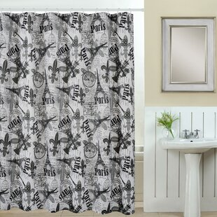 Paris 13 Piece Printed Shower Curtain Set By Luxury Home