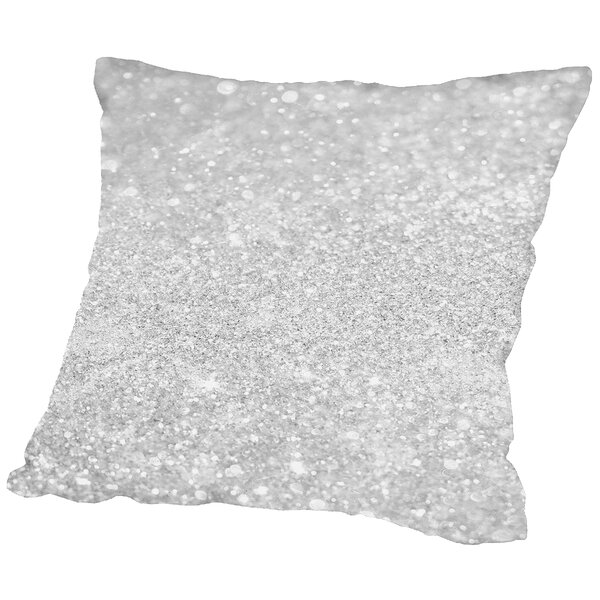 Shiny Glamour Luxury Throw Pillow by East Urban Home