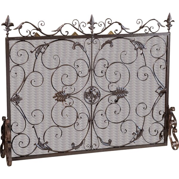 Henry Street Single Panel Iron Fireplace Screen By Astoria Grand