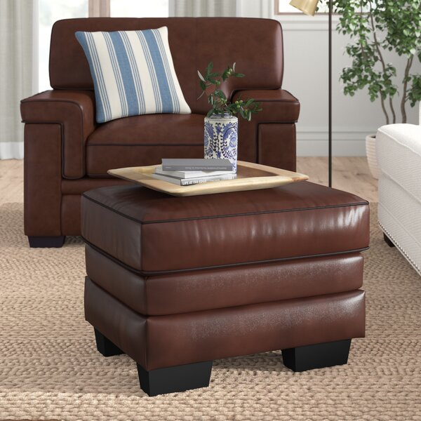 Three Posts Leather Ottomans
