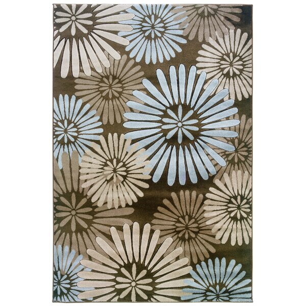 Carina Brown/Sand Area Rug by Ebern Designs