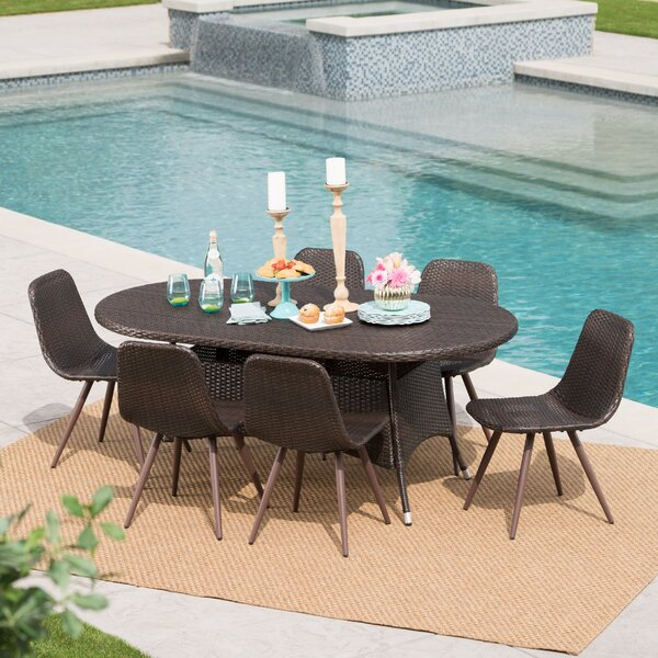 Bice Outdoor Wicker 7 Piece Dining Set by Ivy Bronx